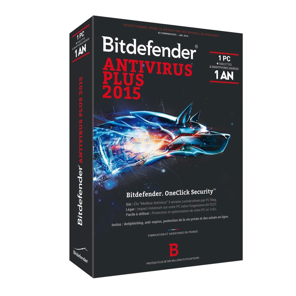 Bitdefender Antivirus Plus 2015 (B-FBDAVP5X1P001) - Achat / Vente Logiciel sécurité sur Cybertek.fr - 0
