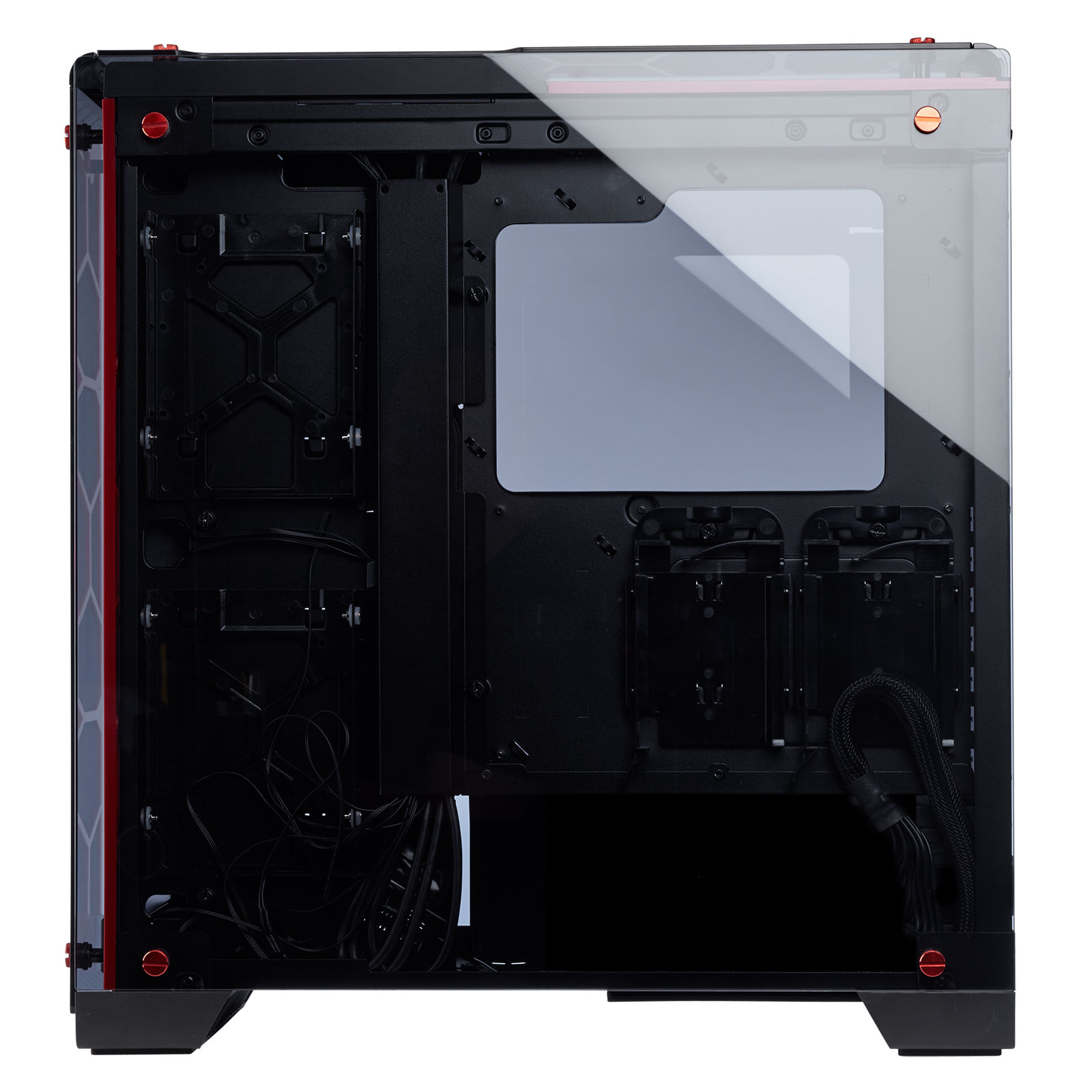 Corsair Crystal 570X RGB Rouge Transparent - Boîtier PC Corsair - 1