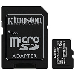 image produit Kingston Micro SDHC 16Go Class 10 + Adapt SDCS2/16GB Cybertek