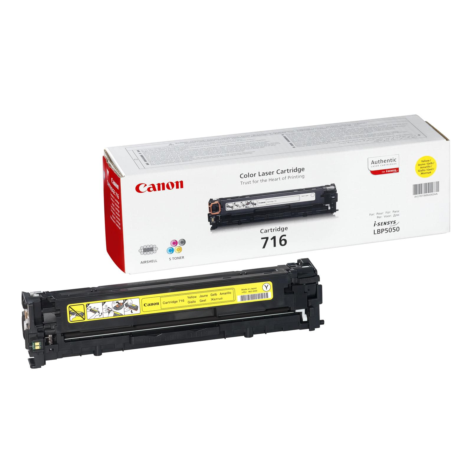 Toner CRG 716 Jaune - 1977B002 pour imprimante Laser Canon - 0