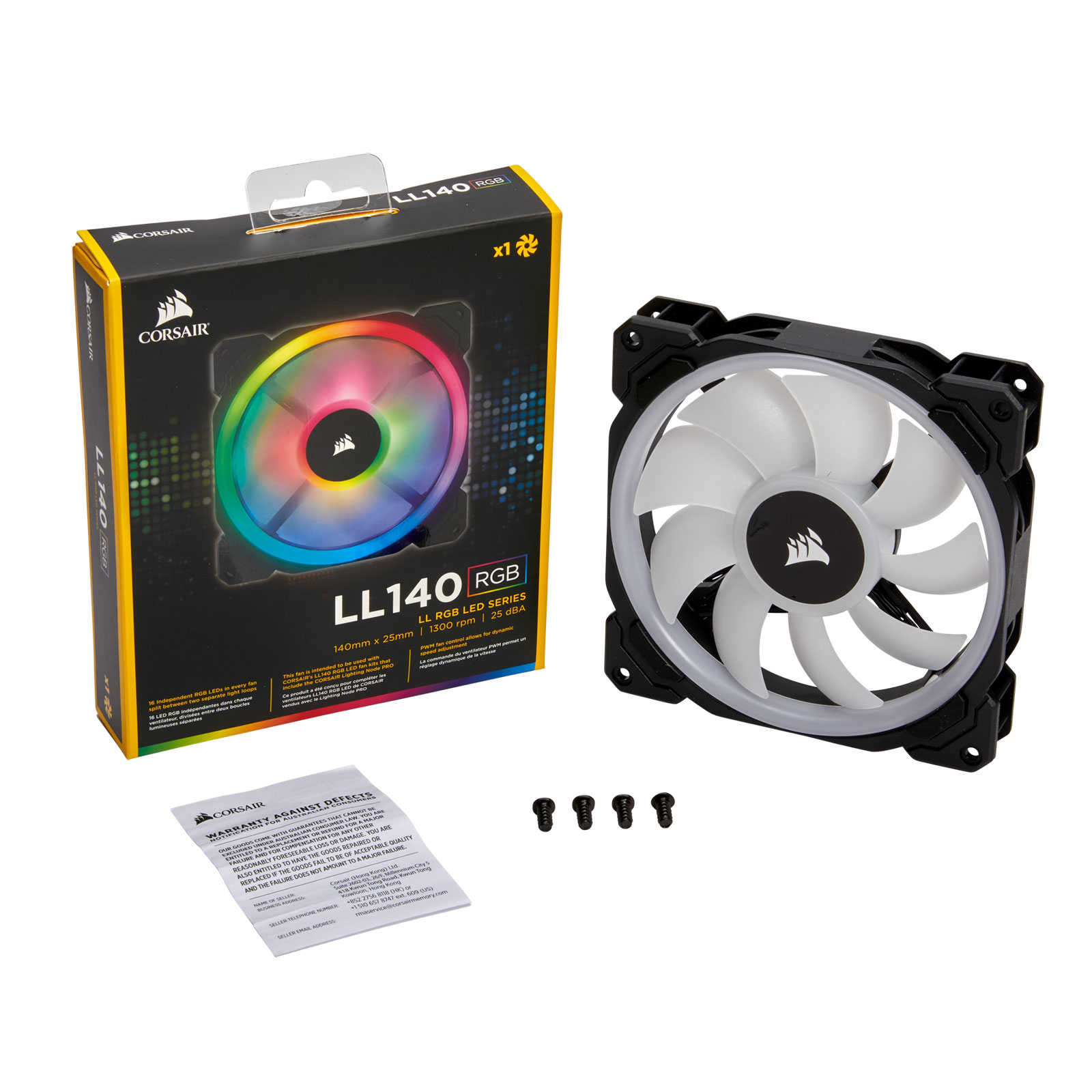 Corsair LL140 Dual Light Loop RGB 140mm - Ventilateur boîtier - 1