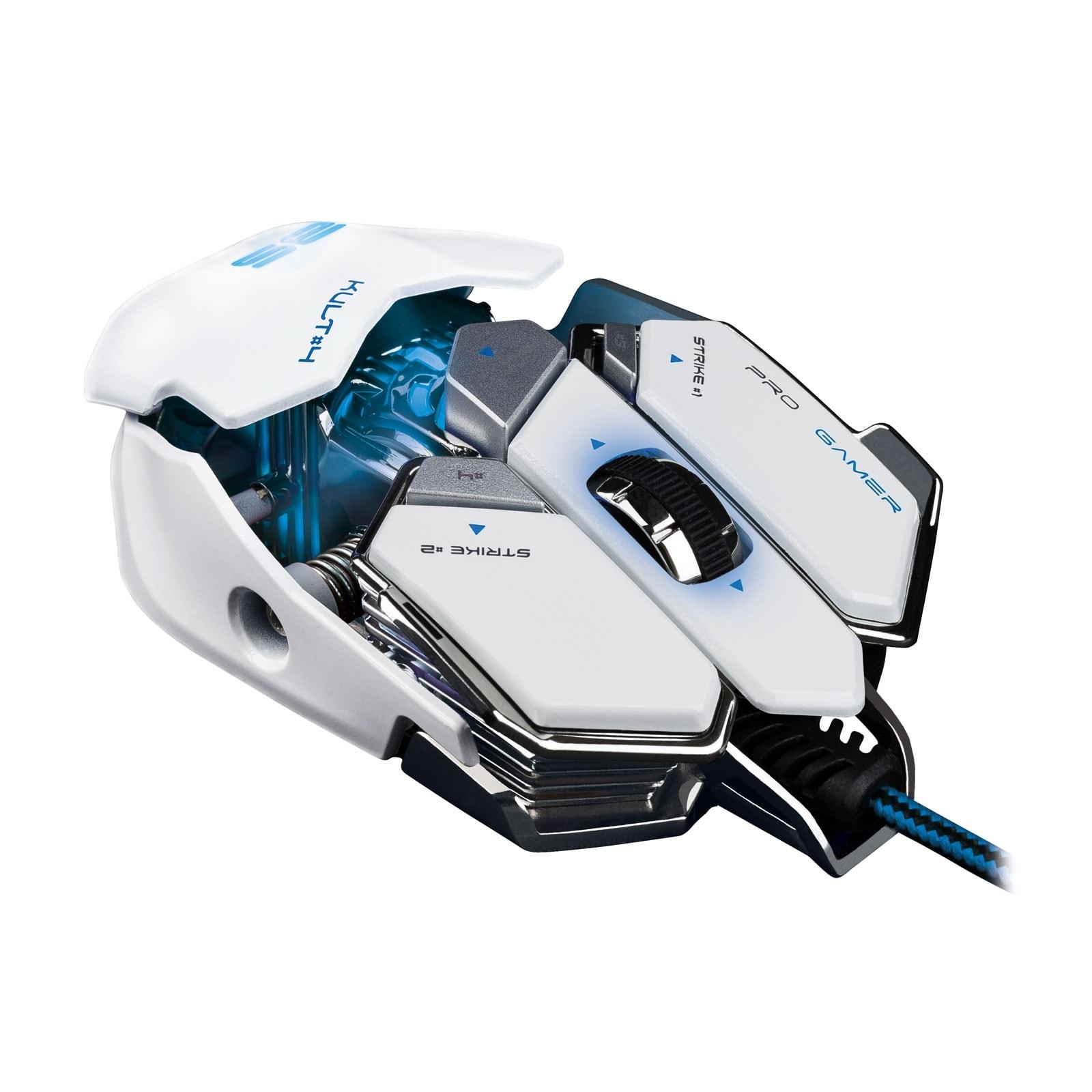 Bluestork KULT 4 WHITE ED. 3500dpi/Rétroéclairé/10 boutons (BS-GM-KULT4/W) - Achat / Vente Souris PC sur Cybertek.fr - 2