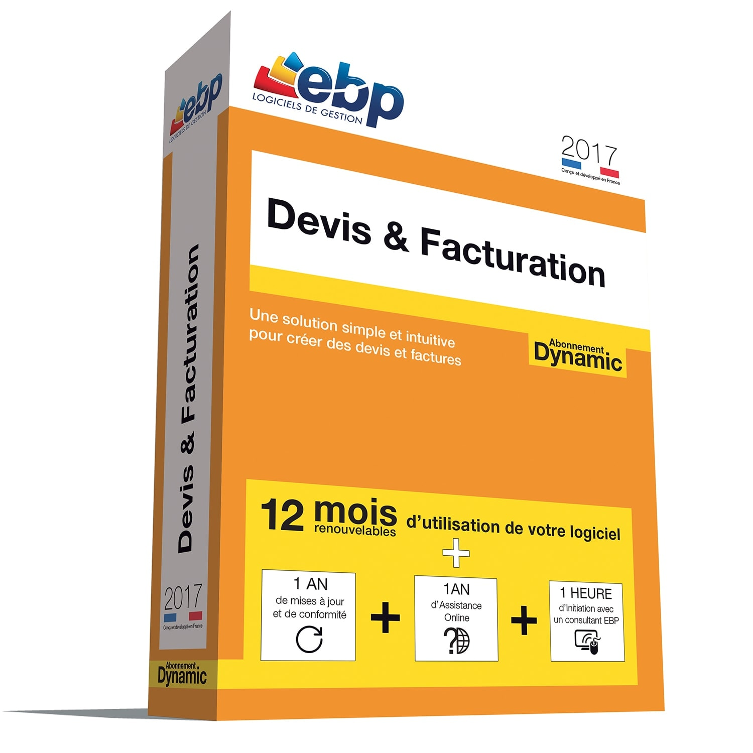 EBP Devis & Facturation DYNAMIC 12 mois 2017 + VIP - Logiciel application - 0