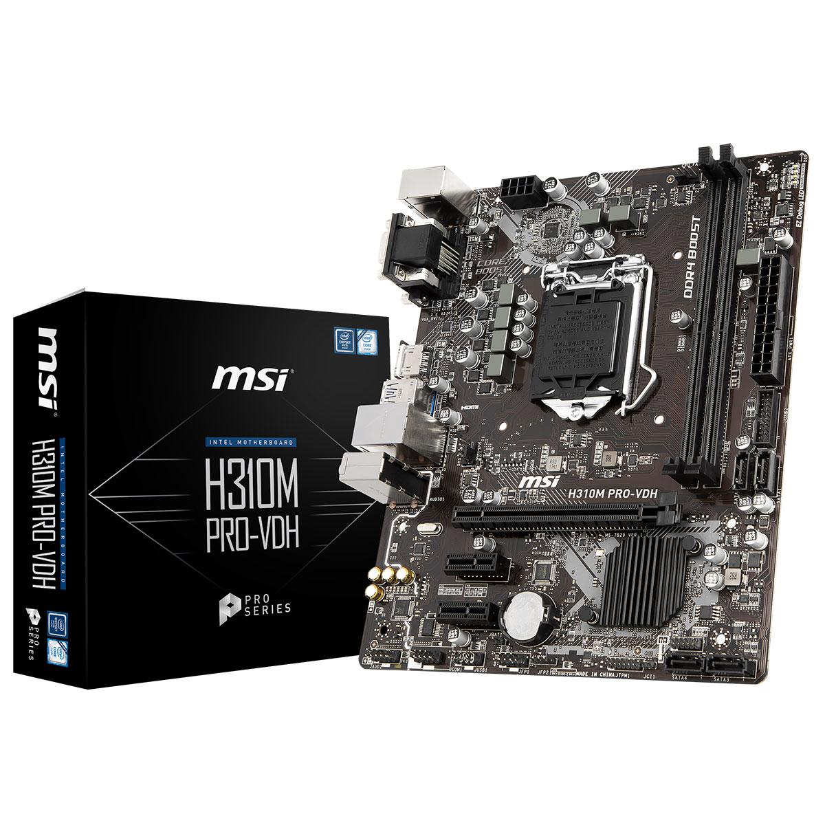 MSI H310M PRO-VDH Micro-ATX DDR4 - Carte mère MSI - Cybertek.fr - 0