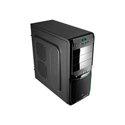 Aerocool Boîtier PC V3X Adv. Evil Green Edition - MT/Sans Alim/ATX Cybertek