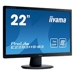 "image produit Iiyama E2283HS-B3 - 21.5"" LED/1ms/FHD/HDMI/DP/HP # Cybertek"