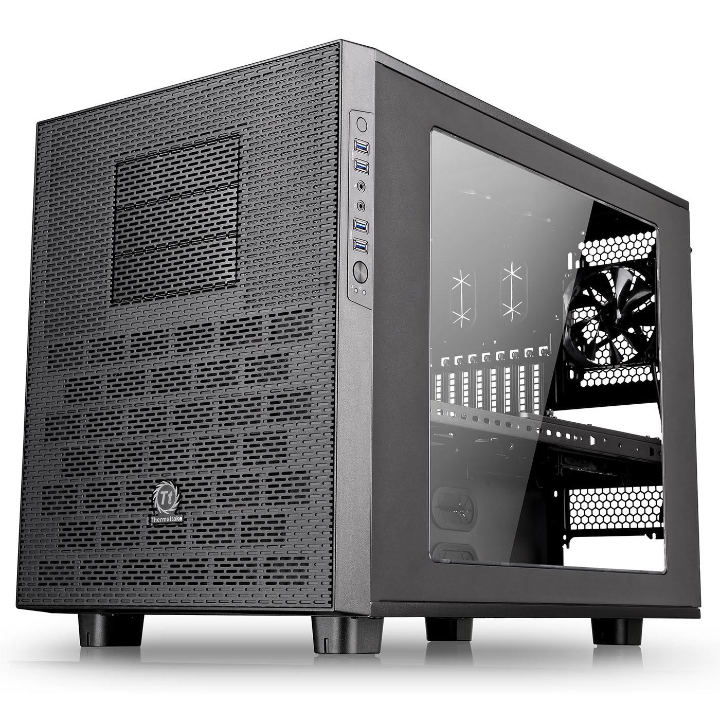 Thermaltake Cube/ss alim/E-ATX Noir - Boîtier PC Thermaltake - 4