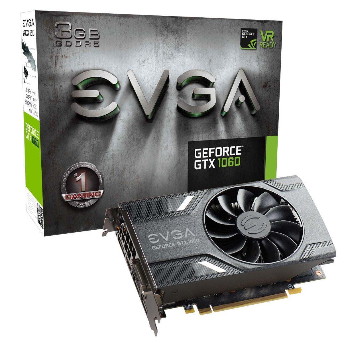 EVGA GTX 1060 Gaming 3G 6160 3Go - Carte graphique EVGA - 0