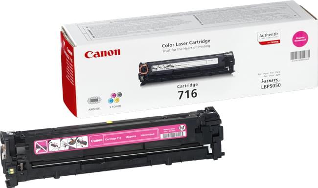 Canon Toner CRG 716 Magenta (1978B002) - Achat / Vente Consommable Imprimante sur Cybertek.fr - 0