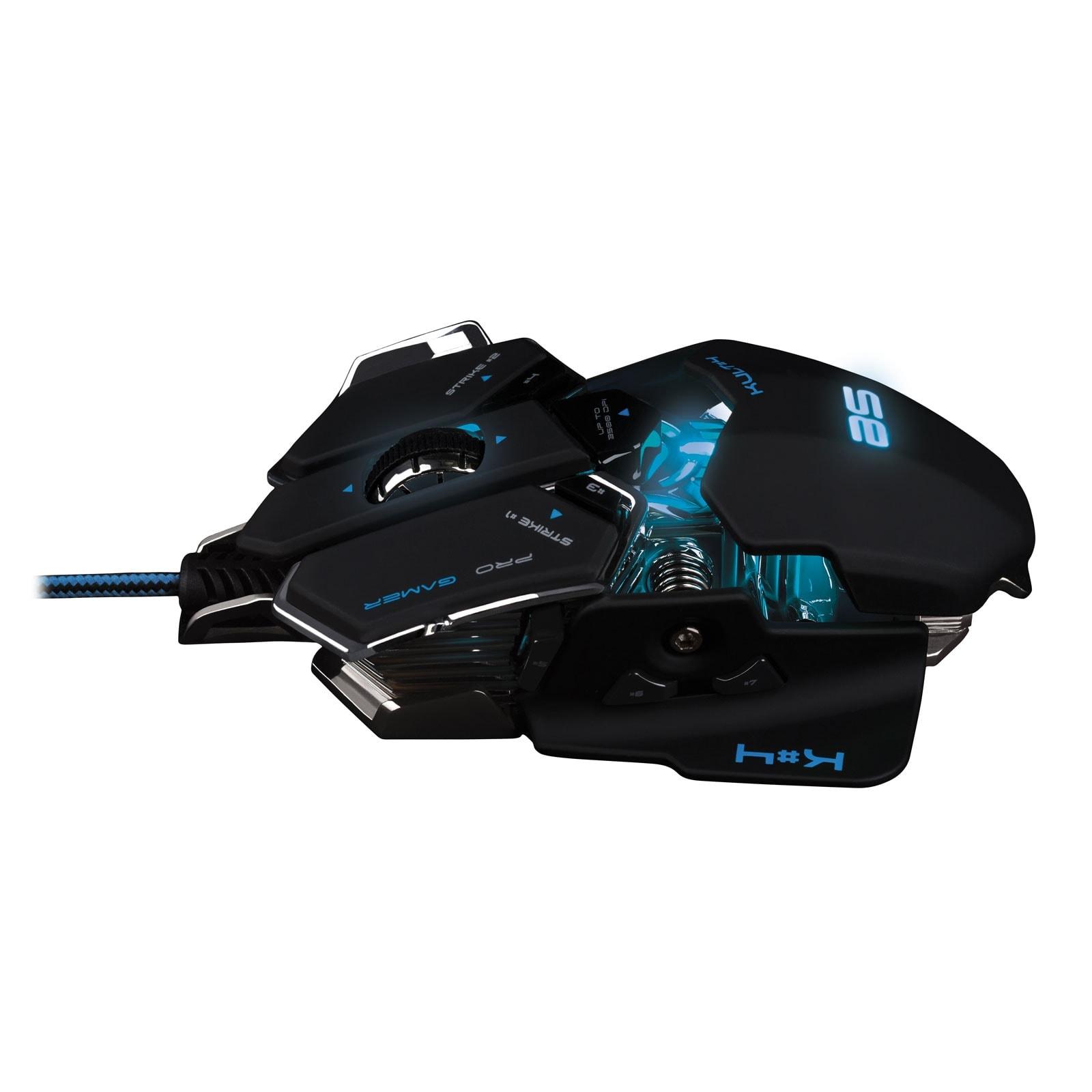 Souris PC Gamer Bluestork KULT 4 BLACK ED. - 3500dpi/Rétroéclairé/10 boutons - 3