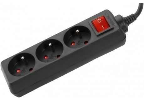 3 Prises + Interrupteur - 1,50m/Noir - Onduleur No Name - 0