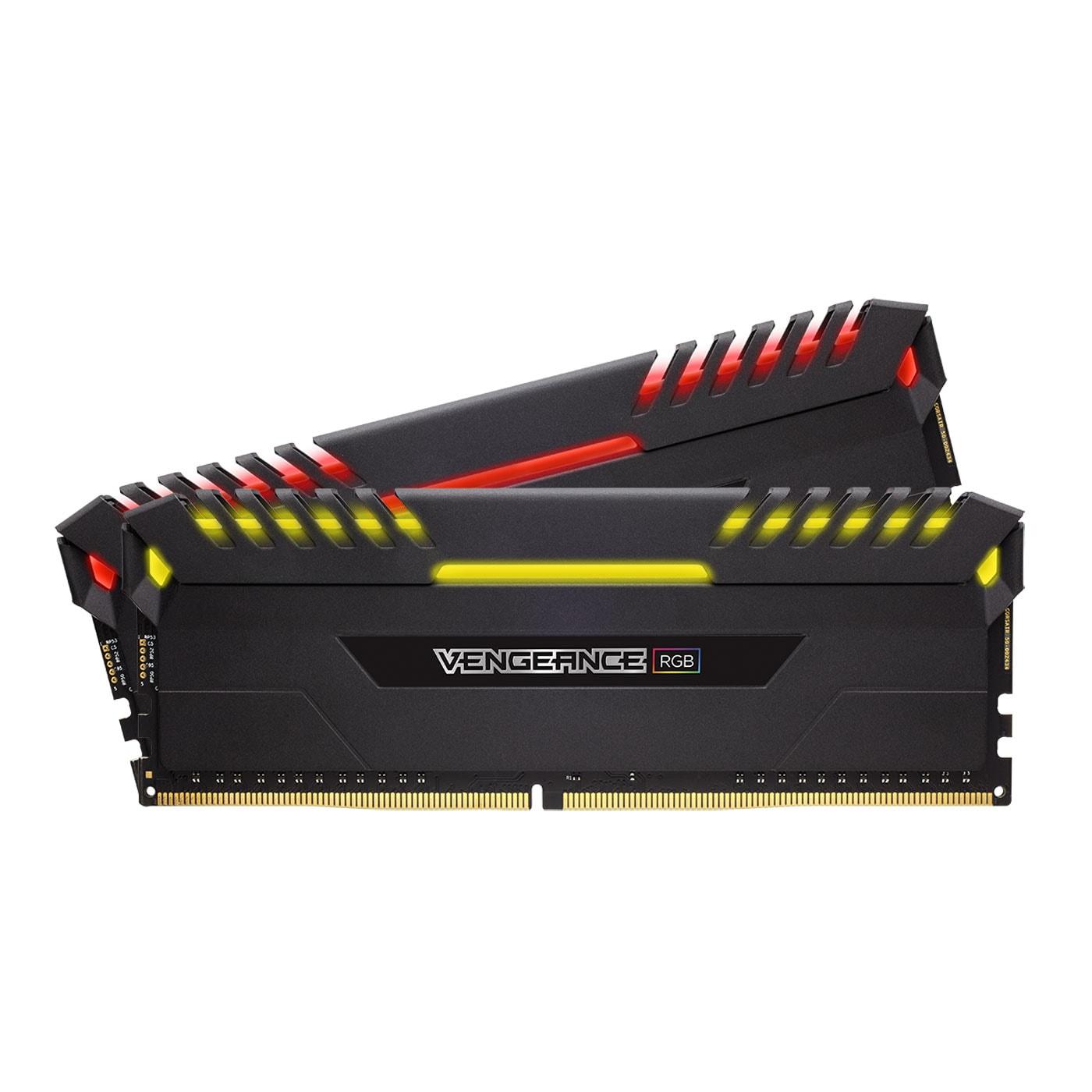 Corsair CMR16GX4M2A2666C16 RGB  16Go DDR4 2666MHz - Mémoire PC - 4