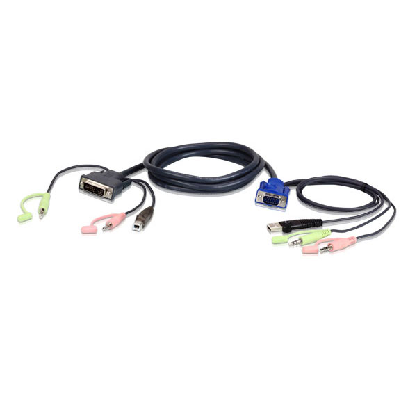 Cordon KVM USB VGA vers DVI-I - 1m80 -  Aten - Cybertek.fr - 0