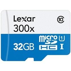 Lexar Carte mémoire Micro SDHC 32Go c10 300x +Adapt. LSDMI32GBB1EU300A Cybertek
