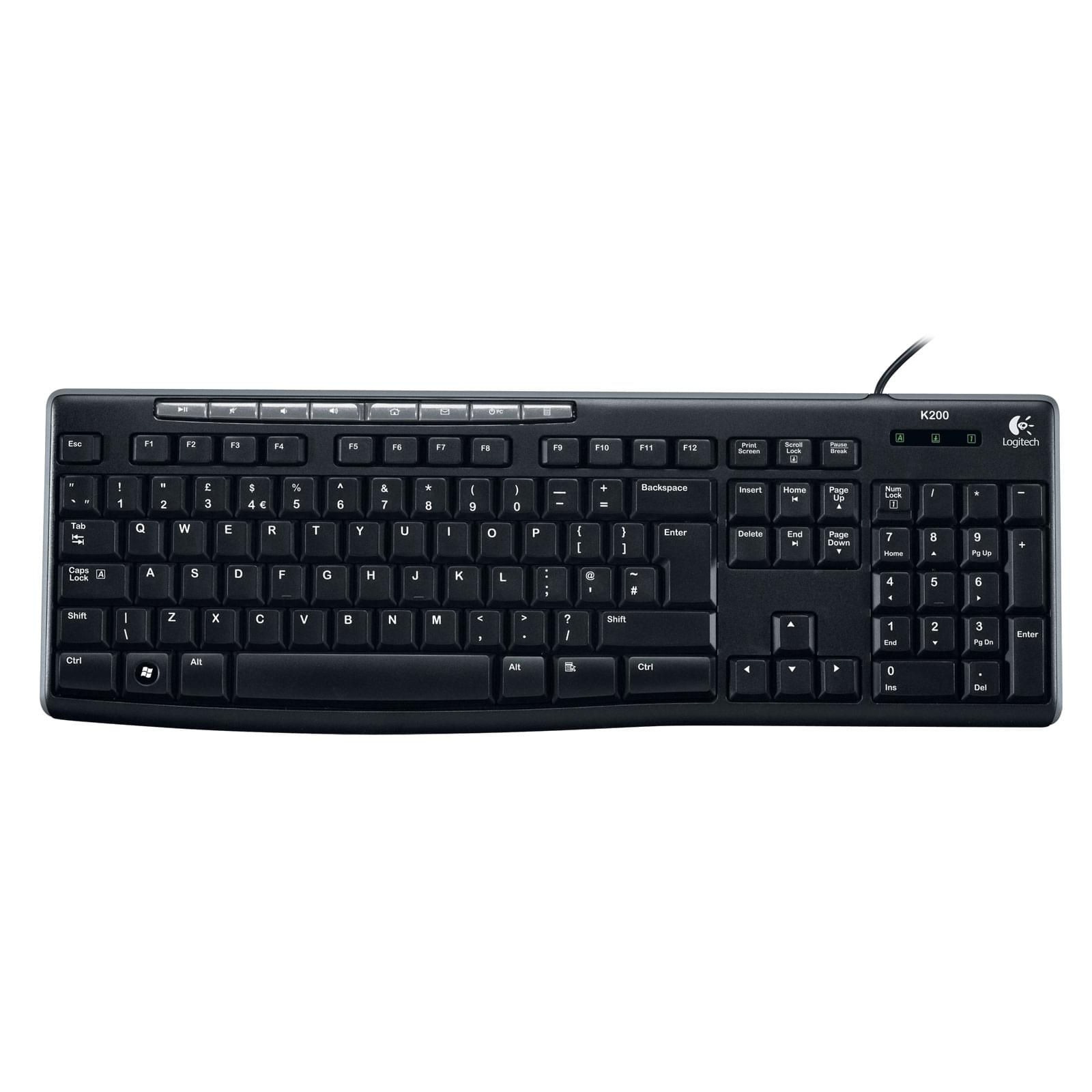 Logitech Keyboard K200 for Business USB OEM (920-002771 FDV) - Achat / Vente Clavier PC sur Cybertek.fr - 0