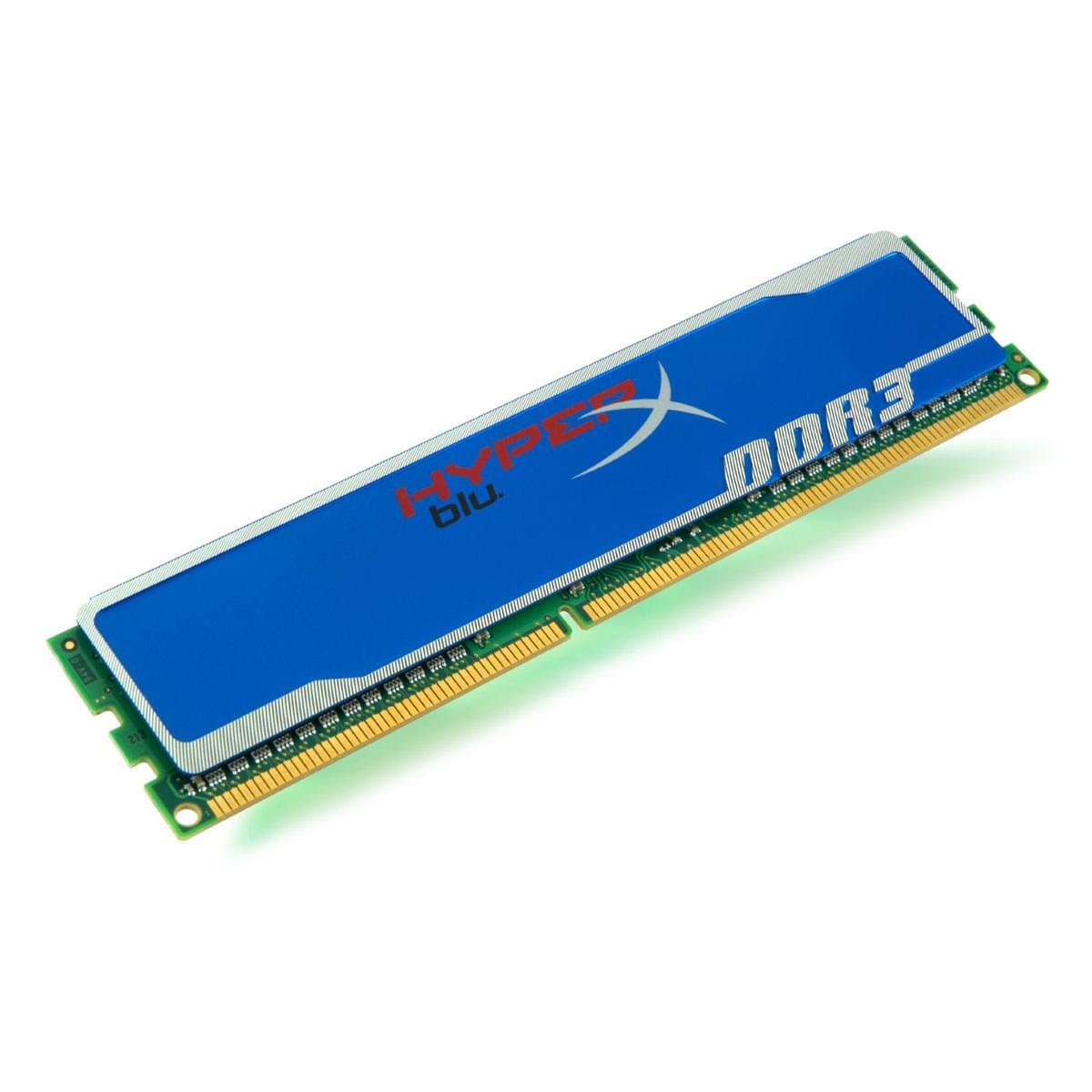 Kingston 4Go DDR3-1600 MHz 12800 HyperX KHX1600C9D3B1/4G (KHX1600C9D3B1/4G arret) - Achat / Vente Mémoire PC sur Cybertek.fr - 0