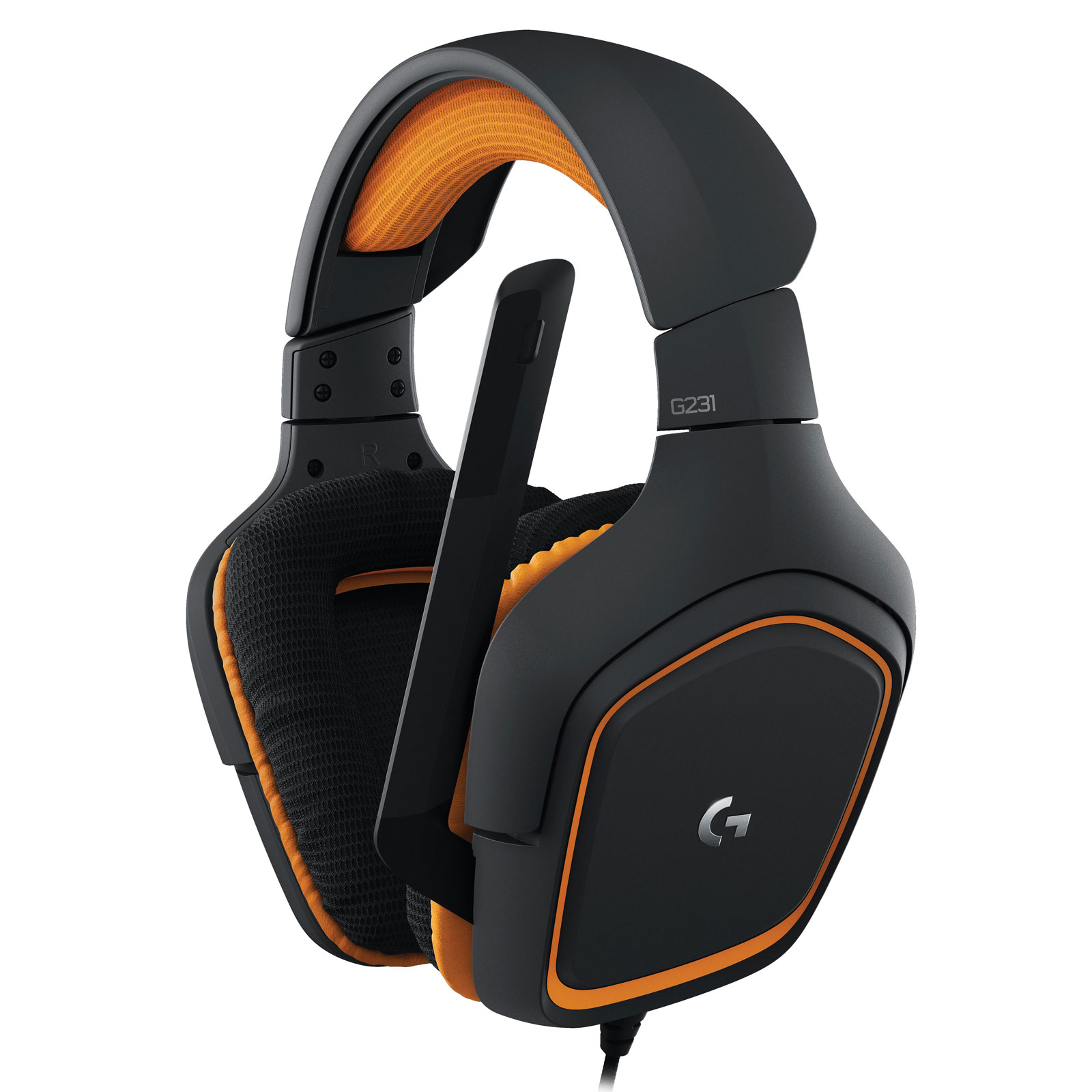 Logitech G231 Prodigy Gaming Headset Stereo Orange - Micro-casque - 0