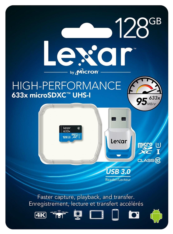 Lexar Micro SDXC 128Go c10 633x +Adapt. LSDMI128B1EU633R (LSDMI128B1EU633R) - Achat / Vente Carte mémoire sur Cybertek.fr - 1