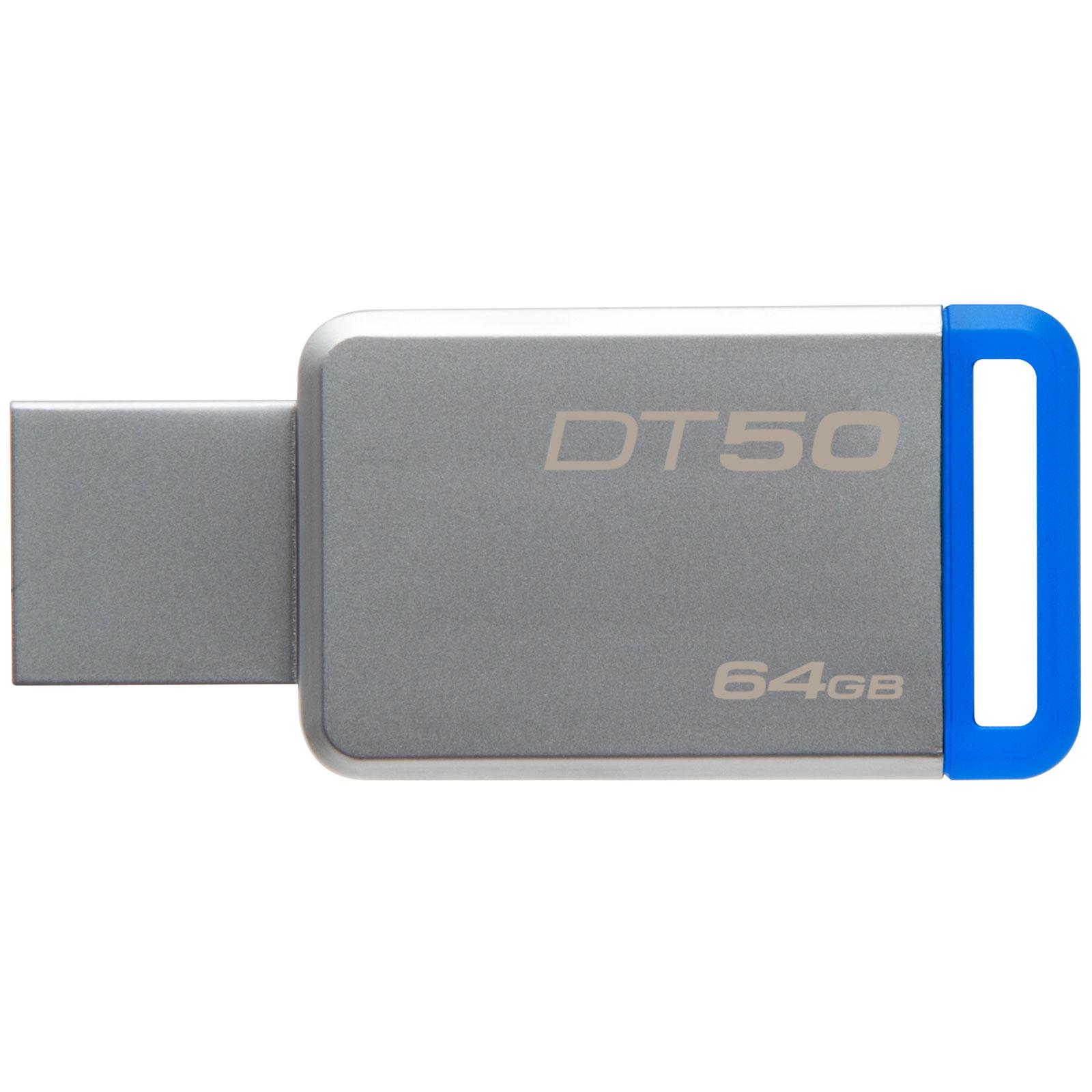 Kingston Clé 64Go USB 3.1 DT50/64GB (DT50/64GB) - Achat / Vente Clé USB sur Cybertek.fr - 1