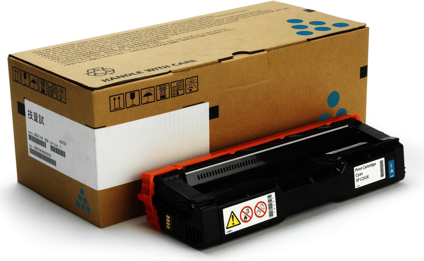 Toner Cyan 1600p SPC250 - 407544 pour imprimante Laser Ricoh - 0
