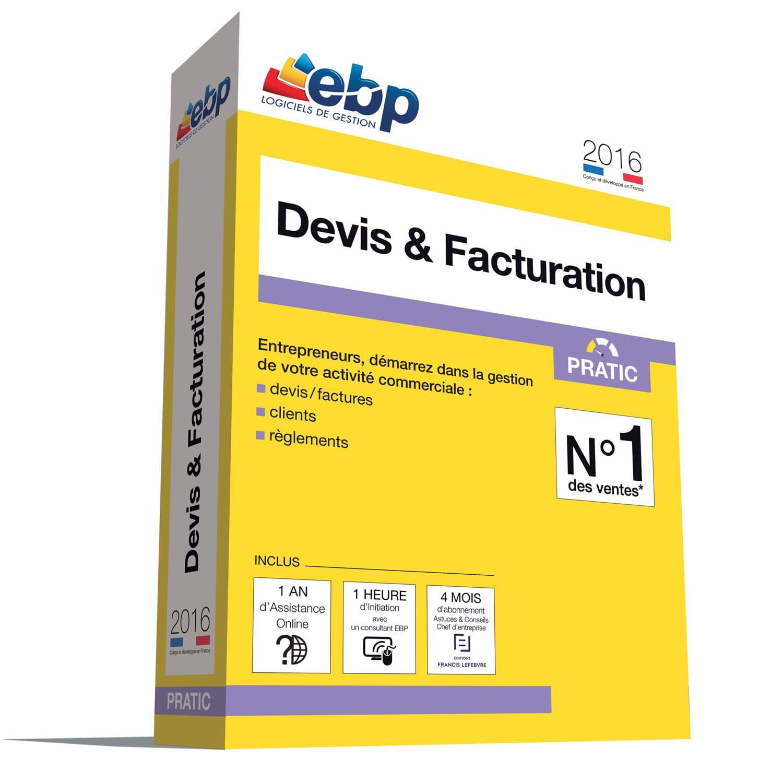 EBP Devis & Facturation Pratic 2016 + VIP (1008E081FAB) - Achat / Vente Logiciel Application sur Cybertek.fr - 0