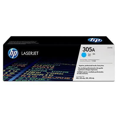 HP Toner 305A Cyan CE411A (CE411A) - Achat / Vente Consommable Imprimante sur Cybertek.fr - 0