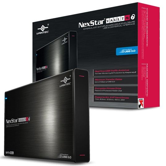 """Nexstar USB3 pour DD SATA 2,5"""" 15mm MAX (NST-V226S3-BK) - Achat / Vente Boîtier externe sur Cybertek.fr - 0"""