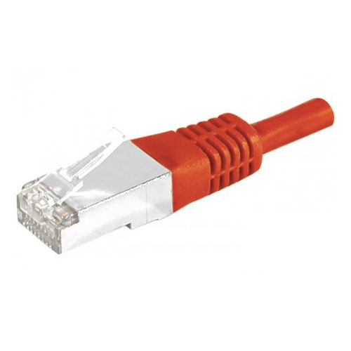 Cordon RJ45 Cat 6, S/FTP Rouge - 15m - Connectique réseau - 0