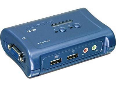 TK-209K - KVM Commut. 2 ports USB + Audio (+cable) - Commutateur - 0