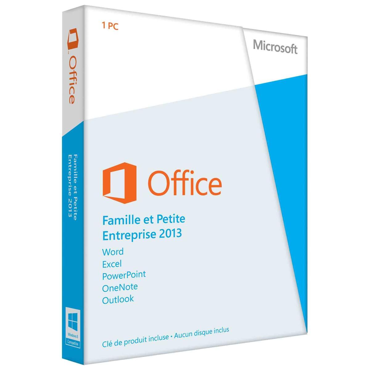 Microsoft Office Famille/Petite Entreprise 2013 OEM Cybertek (25191 / T5D-01936 / Cybertek) - Achat / Vente Logiciel Suite bureautique sur Cybertek.fr - 0