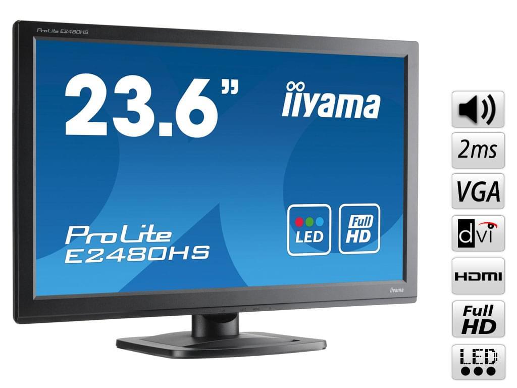 Iiyama E2480HS-B1 (E2480HS-B1) - Achat / Vente Ecran PC sur Cybertek.fr - 0