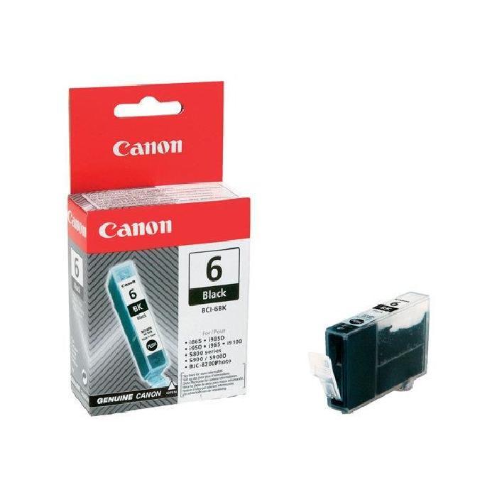 Cartouche BCI 6 Noir - 4705A002 pour imprimante Jet d'encre Canon - 0