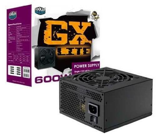 Alimentation PC Cooler Master ATX 600 Watts GX-Lite 600W RS600-ACABL3-EU - 0