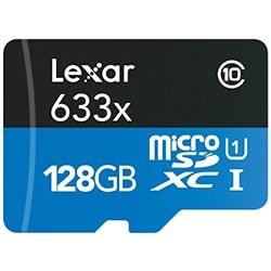 Lexar Carte mémoire Micro SDXC 128Go c10 633x +Adapt. LSDMI128BBEU633A Cybertek