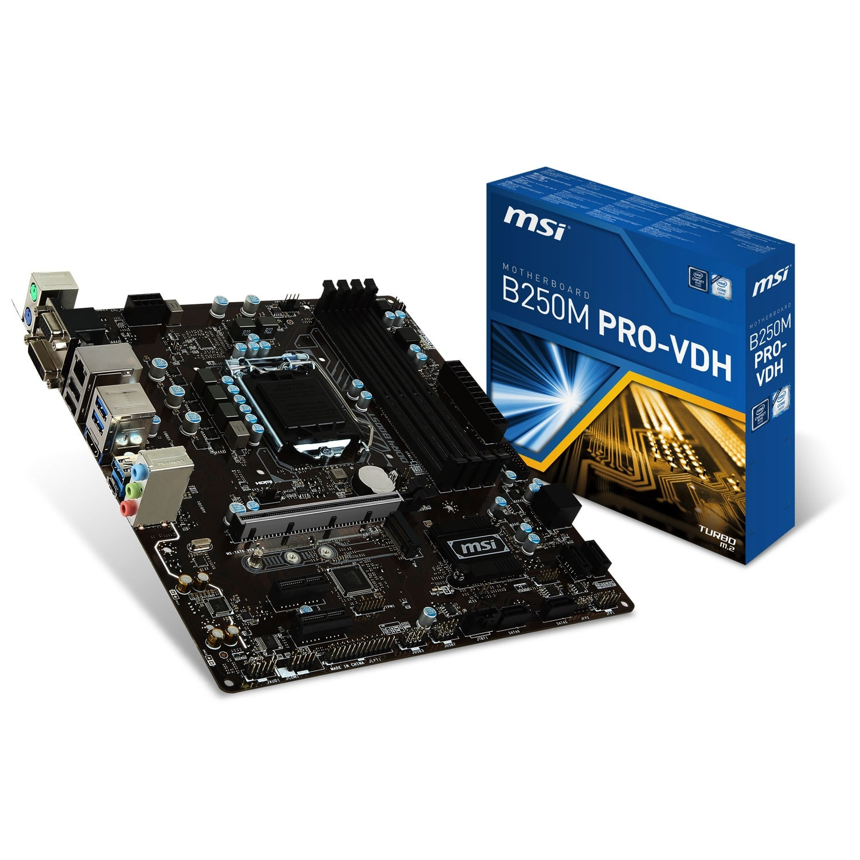 MSI B250M PRO-VDH Micro-ATX DDR4 - Carte mère MSI - Cybertek.fr - 0
