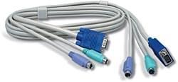 Câble KVM TKC06 PS2 Mâle-Mâle 1.8m - Connectique PC - Cybertek.fr - 0