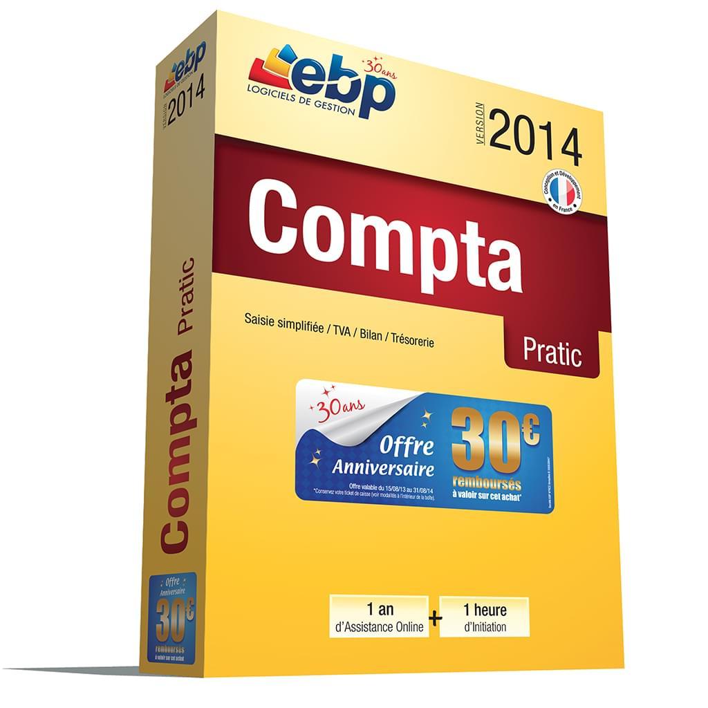 EBP Compta Pratic 2014 + Services VIP (1066E061FAB) - Achat / Vente Logiciel application sur Cybertek.fr - 0