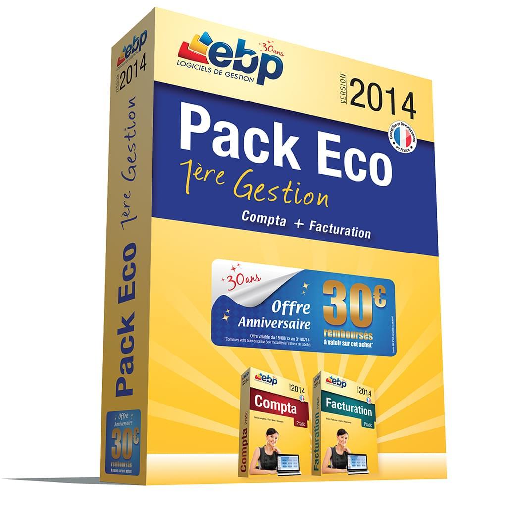 EBP Pack Eco 1ère Gestion 2014 (1166E061FAB) - Achat / Vente Logiciel Application sur Cybertek.fr - 0