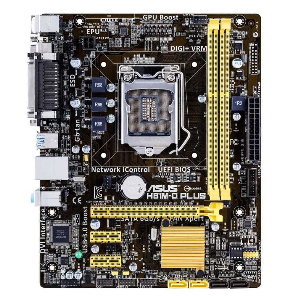 Asus H81M-D Plus  DDR3 - Carte mère Asus - Cybertek.fr - 0