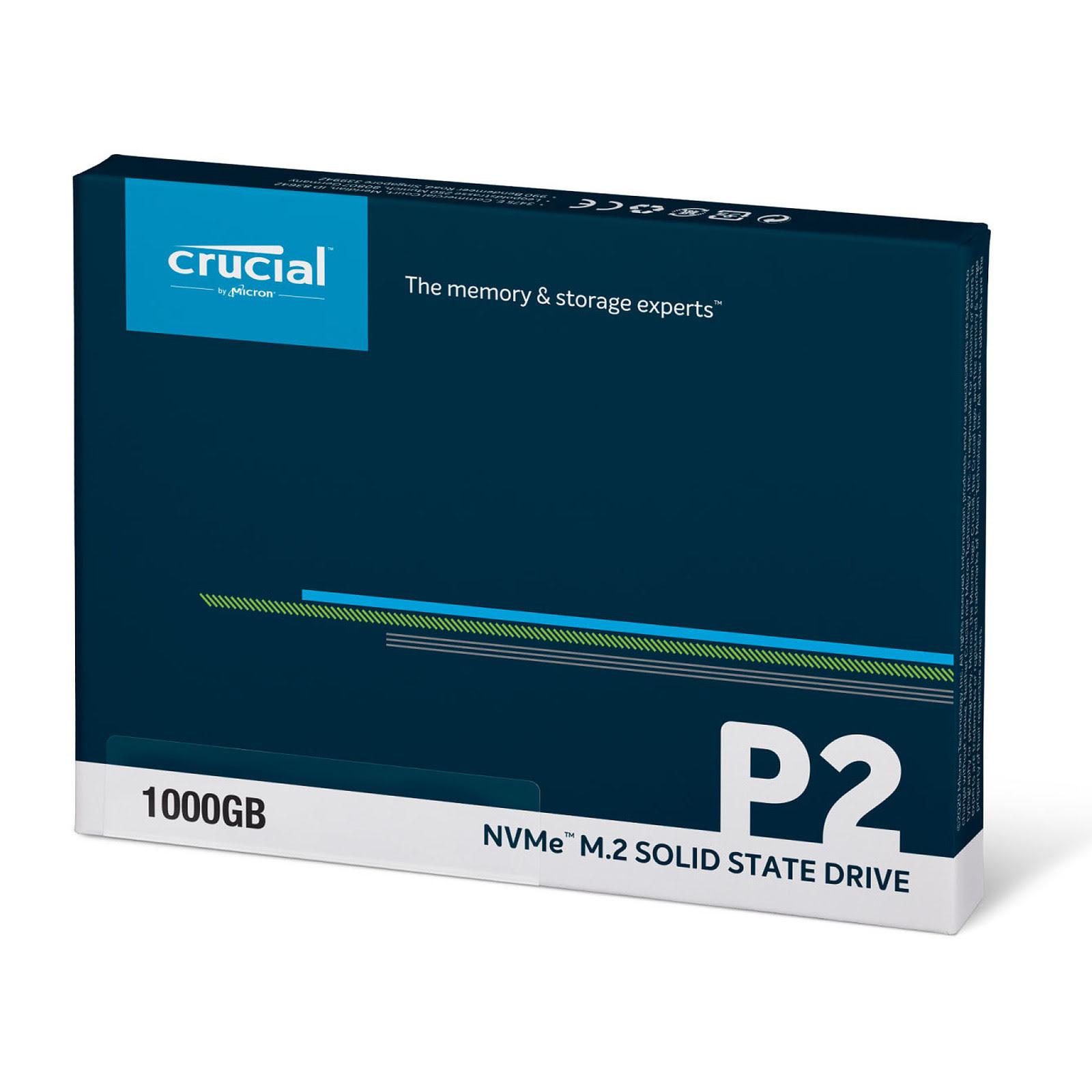 Crucial P2 960Go-1To M.2 - Disque SSD Crucial - Cybertek.fr - 1
