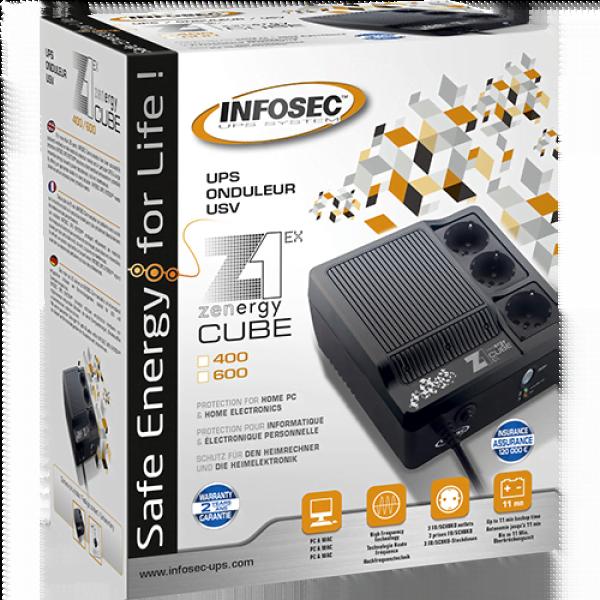 Z1 - Zenergy Cube EX 400VA Haute Frequence SCHUKO - Onduleur Infosec - 0