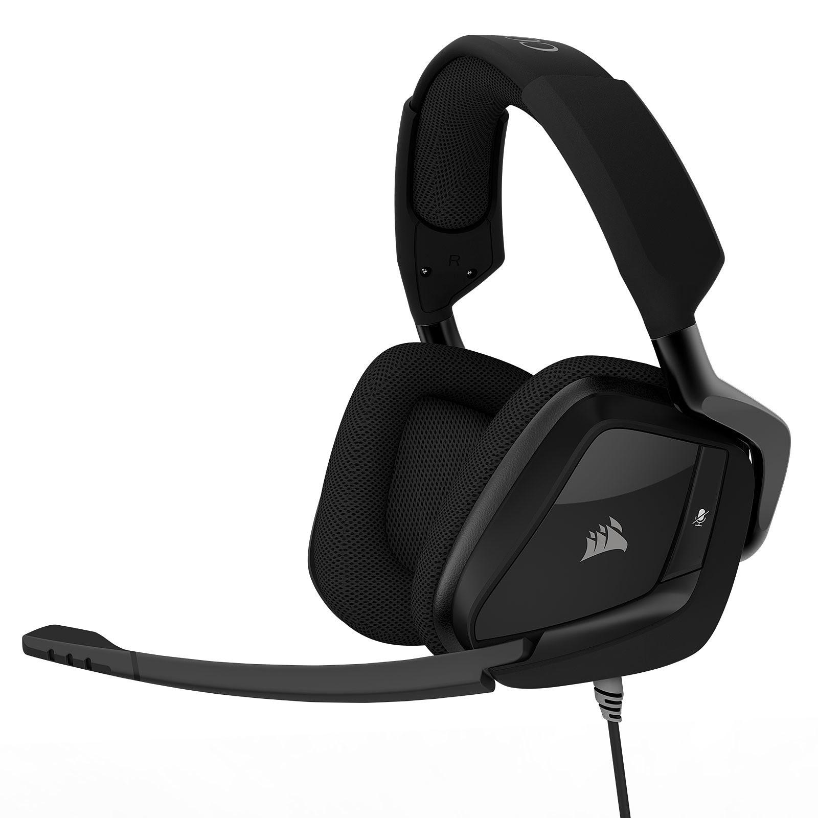 Corsair Gaming VOID PRO Surround 7.1 Carbone CA-9011156-EU 7.1 Surround - Micro-casque - 0