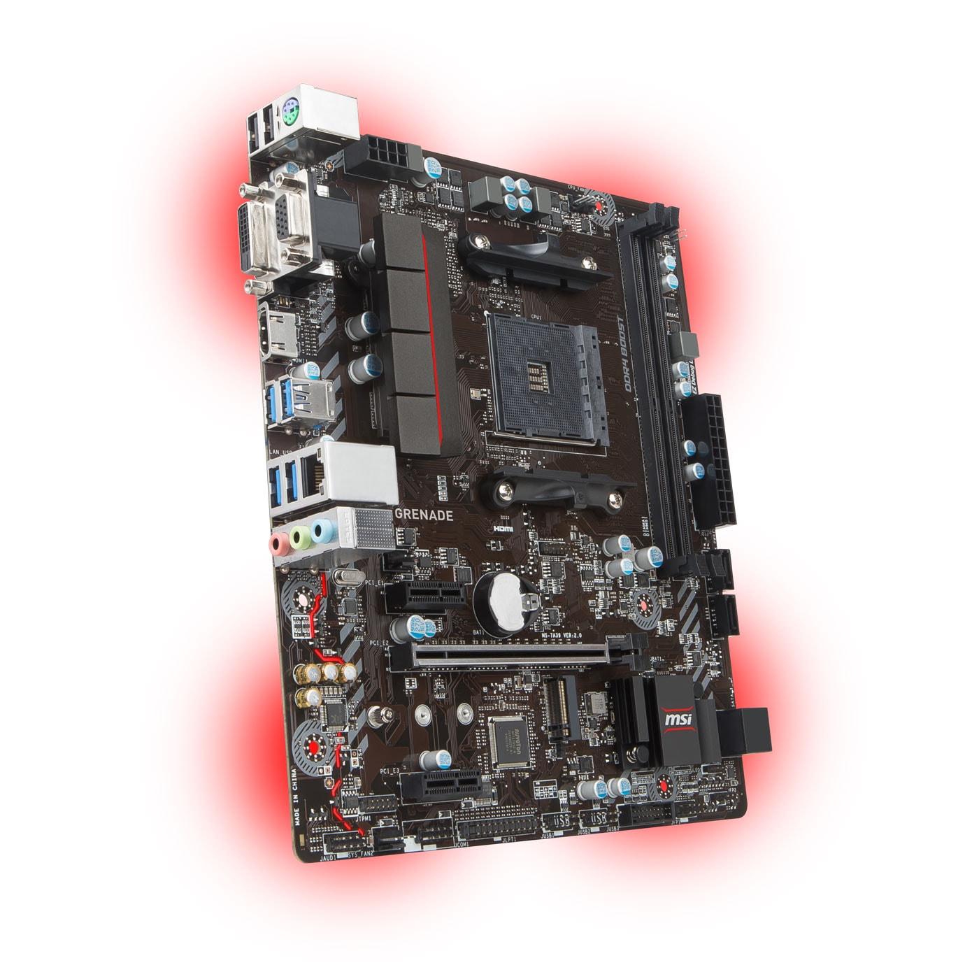 MSI A320M GRENADE Micro-ATX DDR4 - Carte mère MSI - Cybertek.fr - 2