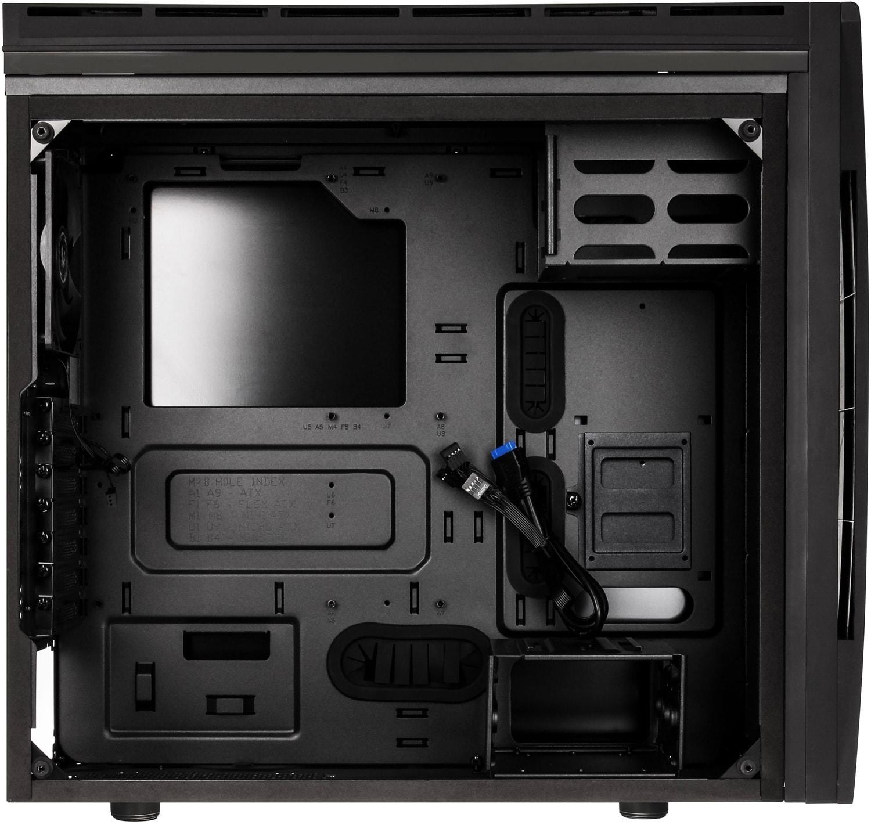 BitFenix Aurora Black Window - Boîtier PC Plexiglas - Sans Alim - 1