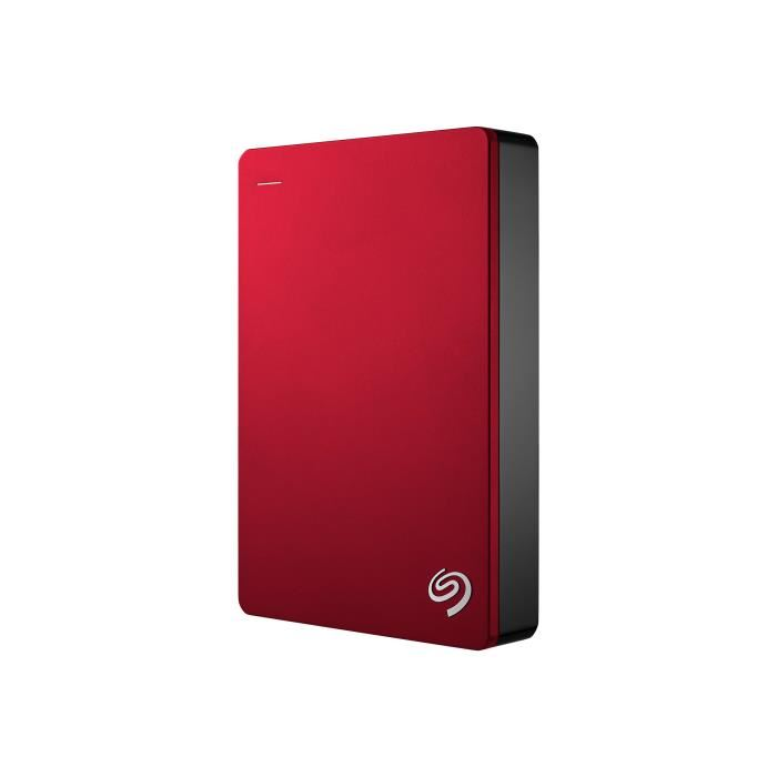 "Seagate 4To 2""1/2 USB3 Backup Plus Rouge - Disque dur externe - 0"
