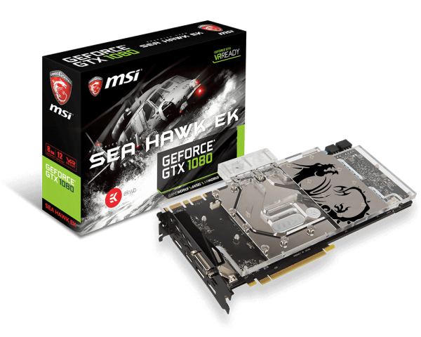 MSI GTX1080 SEA HAWK EK X (GTX1080 SEA HAWK EK X) - Achat / Vente Carte Graphique sur Cybertek.fr - 0