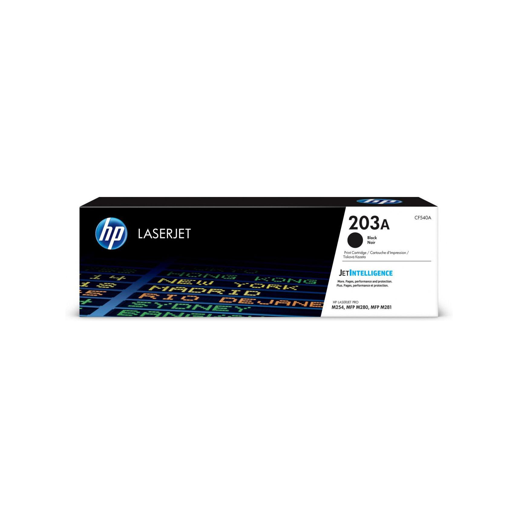 Toner Noir 203A 1400 pages - CF540A pour imprimante  HP - 0