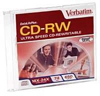 No Name CDRW 74min certifié 16-24X - 0
