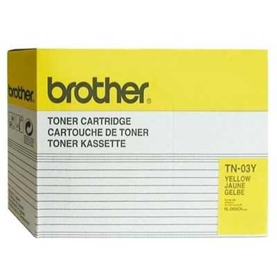 Toner TN-03Y Jaune pour imprimante Laser Brother - 0