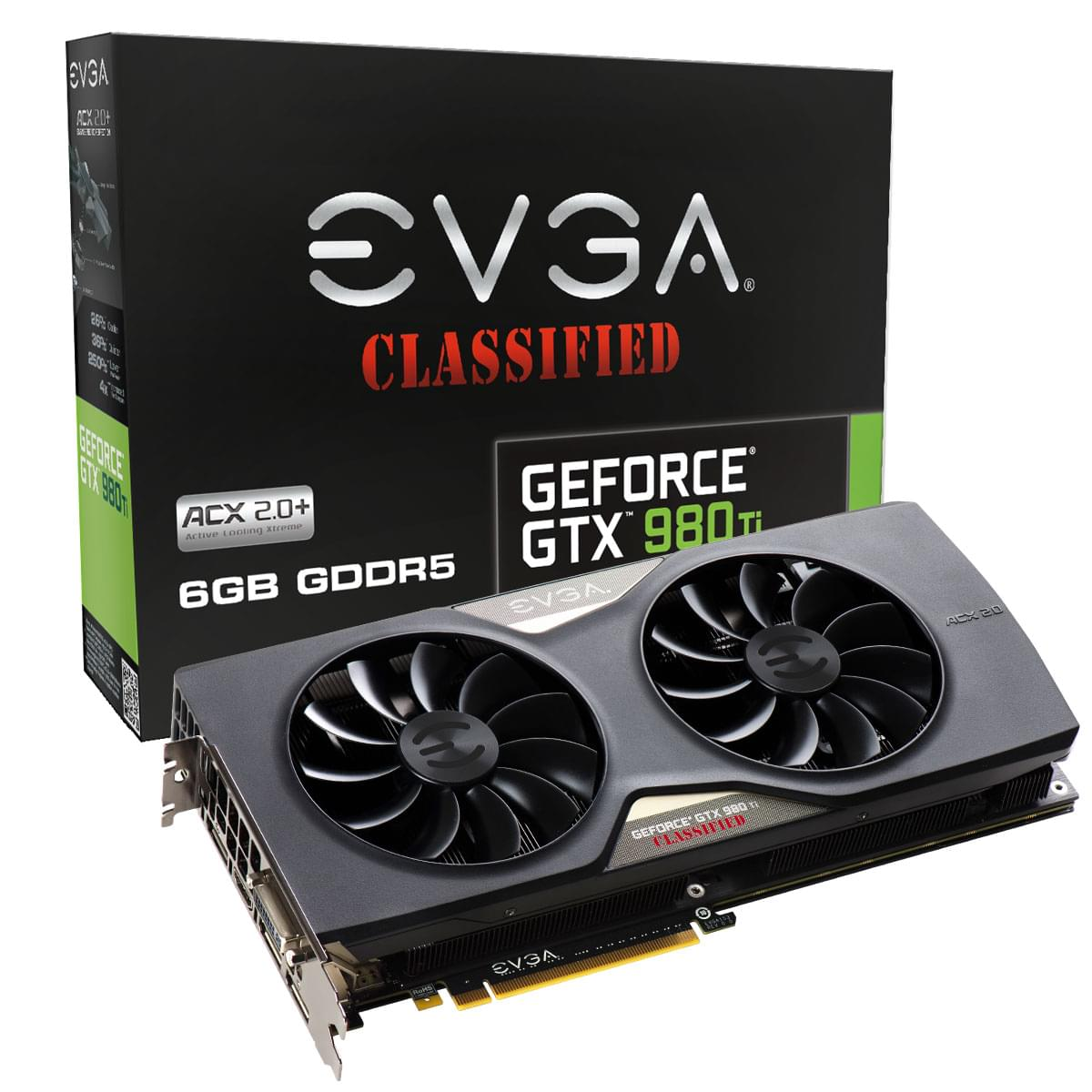 EVGA GTX 980Ti Classified GAMING -980TI/6Go/DVI/DP/HDMi - Carte graphique - 0